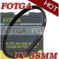 УФ-HAZE защитный фильтр Fotga 58mm для камер Canon/Nikon/Sony/Olympus