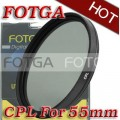 Циркулярно-поляризационный фильтр Fotga 55mm для камер Canon/Nikon/Sony/Olympus