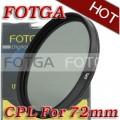 Циркулярно-поляризационный фильтр Fotga 72mm для камер Canon/Nikon/Sony/Olympus