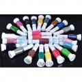 Лаки для ногтей с кисточкой и пером 24 цвета