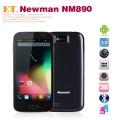 "Newman NM890 - смартфон, Android 4.1.2, MTK6589 Quad Core 1.2GHz, 5.0"" IPS 720Р, 2 SIM-карты, 1ГБ RAM, 4ГБ ROM, поддержка карт microSD, WCDMA/GSM, Wi-Fi, Bluetooth, GPS, FM-радио, основная камера 8МП и фронтальная камера 5МП"