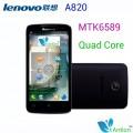 "Lenovo A820 - смартфон, 2 SIM-карты, Android 4.1.2, qHD 4.5"" IPS, MTK6589 (4 х 1.2 ГГц), 1ГБ RAM, 4ГБ ROM, поддержка microSD, 3G, Wi-Fi, Bluetooth, GPS, FM-радио, камера 8МП"