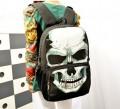Рюкзак женский матерчатый, с узоров в виде черепа