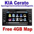 "CE-8923 - автомобильная магнитола, 6.5"" TFT LCD, Touch Screen, DVD, GPS с 4GB MAP, Bluetooth, TV/FM для Kia Sportage/Cerato/Carnival/Sorento/Magentis"