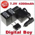 NP-FH100 - 2 аккумулятора + зарядное устройство + автомобильное зарядное устройство + штекер для Sony SR HC