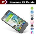 "Newman K1 Panda - смартфон, Android 4.2, MTK6589 Quad core 1.2GHz; 5.3"" 2 SIM-карты, 1ГБ RAM, 4ГБ ROM, поддержка карт microSD, WCDMA/GSM, Wi-Fi, Bluetooth, GPS, FM-радио, основная камера 8МП и фронтальная камера 2МП"