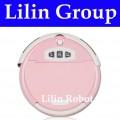 LL-309 - робот-пылесос, чистка и мытье полов, ароматизация, виртуальная стена (розовый цвет)