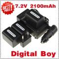 NP-FH70 - аккумулятор + зарядное устройство + автомобильное зарядное устройство + штекер для Sony NP-FH60 NP-FH30 NP-FH40