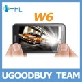 "ThL W6 - смартфон, Android 4.0.4, MTK6577 (1GHz), 5.3"" IPS, 1GB RAM, 4GB ROM, 3G, Wi-Fi, Bluetooth, GPS, 8MP задняя камера, 2MP фронтальная камера"