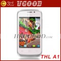 "ThL A1 - смартфон, Android 4.0.4, MTK6515 (1GHz), 3.5"" IPS, 256MB RAM, 512MB ROM, 2 SIM, Wi-Fi, Bluetooth, FM, 3.2MP задняя камера, 0.3MP фронтальная камера"