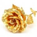Золотая роза в подарочной коробке