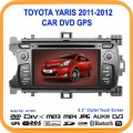 "AC-1333 - автомобильная магнитола, 6.2"" TFT LCD, MP3/MP4, Touch Screen, GPS, CD/DVD, TV/FM,  Bluetooth для Toyota Yaris (2011-2012)"