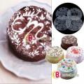 Трафарет для украшения торта, 4шт