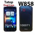 "Tatop W858 - смартфон, Android 4.0, MTK6577 1GHz, 4,3"", 2 SIM-карты, 512MB RAM, 2ГБ ROM, WCDMA/GSM, Wi-Fi, Bluetooth, GPS, основная камера 5МП"