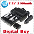 LPE6 - батарея LI-ION 2100 мАч, зарядное устройство, автомобильное зарядное устройство для камер Canon 5D Mark II 7D 60D