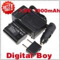 ENEL15 - батарея LI-ION 1900 мАч, зарядное устройство, автомобильное зарядное устройство для камер Nikon D800 D800E D7000 MB-D11/D12