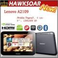 "Lenovo A2109 - планшетный компьютер, Android 4.0.4, 9"" TFT LCD, NVIDIA Tegra 3 (4x1.2GHz), 1GB RAM, 8GB ROM, Wi-Fi, Bluetooth, HDMI, GPS, 1.3MP фронтальная камера, 3MP задняя камера"