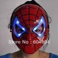 Карнавальная маска Человек-паук со светодиодами