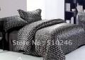 Комплект постельного белья Черный шелк