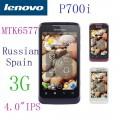 "Lenovo P700i - смартфон, 2 SIM-карты, Android 4.0, 4"" IPS 480х800, MT6577 (2 х 1 ГГц), 512МБ RAM, 4ГБ ROM, поддержка карт microSD, 3G, Wi-Fi, Bluetooth, GPS, FM-радио, основная камера 5МП и фронтальная камера 0.3МП"