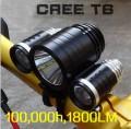 Передний фонарь для велосипеда сверх яркий, 1800 люмен