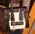 Кожаные дизайнерские дамские сумки с бусинами 86186