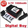 SLB-10A - аккумулятор + зарядное устройство + автомобильное зарядное устройство для Samsung L100,L110,L200,L210,L310W,WB150F