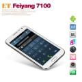 "Feiyang 7100 - смартфон, Android 4.1, MTK6577 Dual Core 1.2GHz, 5.3"" 2 SIM-карты, 1ГБ RAM, 4ГБ ROM, поддержка карт microSD, WCDMA/GSM, Wi-Fi, Bluetooth, GPS, FM-радио, основная камера 8МП и фронтальная камера 0.3МП"