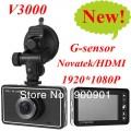 V3000 - автомобильный видеорегистратор, Full hd HDMI +1920 x 1080P, GPS (опиционально), G-датчик