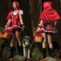 Женский карнавальный костюм красной шапочки