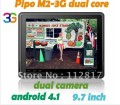 "Pipo M2 - планшетный компьютер, Android 4.1.1, 9.7"" IPS, Rockchip RK3066 (1.6GHz), 1GB RAM, 16GB ROM, Wi-Fi, HDMI, Bluetooth, 3G (опционально), 2MP фронтальная камера, 3MP задняя камера"