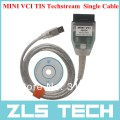 Кабель MINI VCI и диск с программным обеспечением TOYOTA TIS Techstream 8.10.021