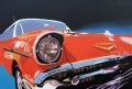 Картина маслом  Красная гоночная машина
