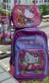 Рюкзак на колесах + пенал + обеденная сумка для девочек