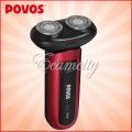POVOS - Портативная бритва, аккумуляторная, для мужчин, электропривод вращения лезвий