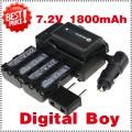 NP-FM500H - 3 аккумулятора + зарядное устройство + автомобильное зарядное устройство + штекер для Sony DSC-R1 F707 F717 F828
