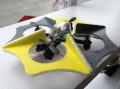 4-пропеллерный самолет - летающая тарелка НЛО Parrot Ar. Drone на дистанционном управлении