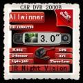 2000B - Автомобильный видеорегистратор, HDMI, 3 камеры, 360 градусов, HD 720P, 3.0 LCD, GPS