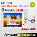 "Ampe A85 Deluxe - планшетный компьютер, Android 4.0.3, 8"" LED, All Winner A10 (1.2GHz), 1GB RAM, 8GB ROM, Wi-Fi, HDMI, Bluetooth, 0.3MP фронтальная камера, 2MP задняя камера"