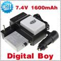 LP-E5 - 2 аккумулятора + зарядное устройство + зарядка для авто, для Canon EOS 450D 500D 1000D