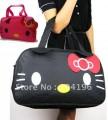 Большая дорожна сумка HelloKitty, для ношения на плече, в руках, красная, черная