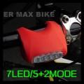 Задний фонарь для велосипеда, 7 светодиодов, 4 цвета на выбор