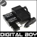 NP-FV50 - 2 аккумулятора + зарядное устройство + автомобильное зарядное устройство + штекер для Sony NP-FV30 NP-FV40