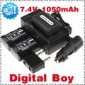 NP-FH50 - 3 аккумулятора + зарядное устройство + автомобильное зарядное устройство + штекер для Sony SR, HC, DVD