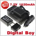 NPFW50 - 2 аккумулятора Li-ion для + зарядное устройство + автомобильное зарядное устройство для Sony Alpha NEX-7 NEX-C3 NEX-5N NEX-5