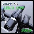 Передний фонарь CREE для велосипеда регулируемый, 3 режима работы