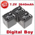 VW-VBG260 - 3 аккумулятора Li-ion 2640 мАч для Panasonic HS250 SDR-SD7 HDC-MDH1