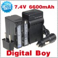 NP-F970 - аккумулятор + зарядное устройство + автомобильное зарядное устройство для Sony NP-F960 NP-F950 NP-F930