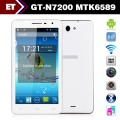 "GT N7200 - смартфон, Android 4.2, MTK6589 Quad Core 1.2GHz, 6.0"" 720Р, 2 SIM-карты, 1ГБ RAM, 4ГБ ROM, поддержка карт microSD, WCDMA/GSM, Wi-Fi, Bluetooth, GPS, FM-радио, основная камера 8МП и фронтальная камера 2МП"