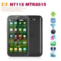 "ET N7115 - Смартфон, Android 4.1, MTK6515 1.0GHz, Dual SIM, 5.3"", 256MB RAM, 128MB ROM, GSM, Wi-Fi, Bluetooth, основная камера 8.0Mp"